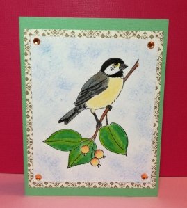 Martha Stewart Stamp Chickadee