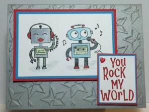 Robot Stamp Card