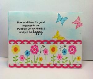 Butterfly Garden Card