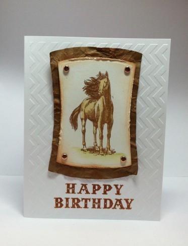 Inkadinkado clear stamp horses