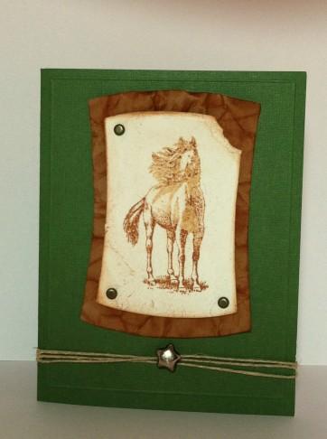 Inkadinkado horse stamp