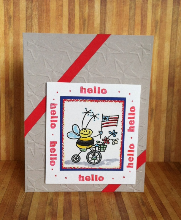 Patriotic Bee Card