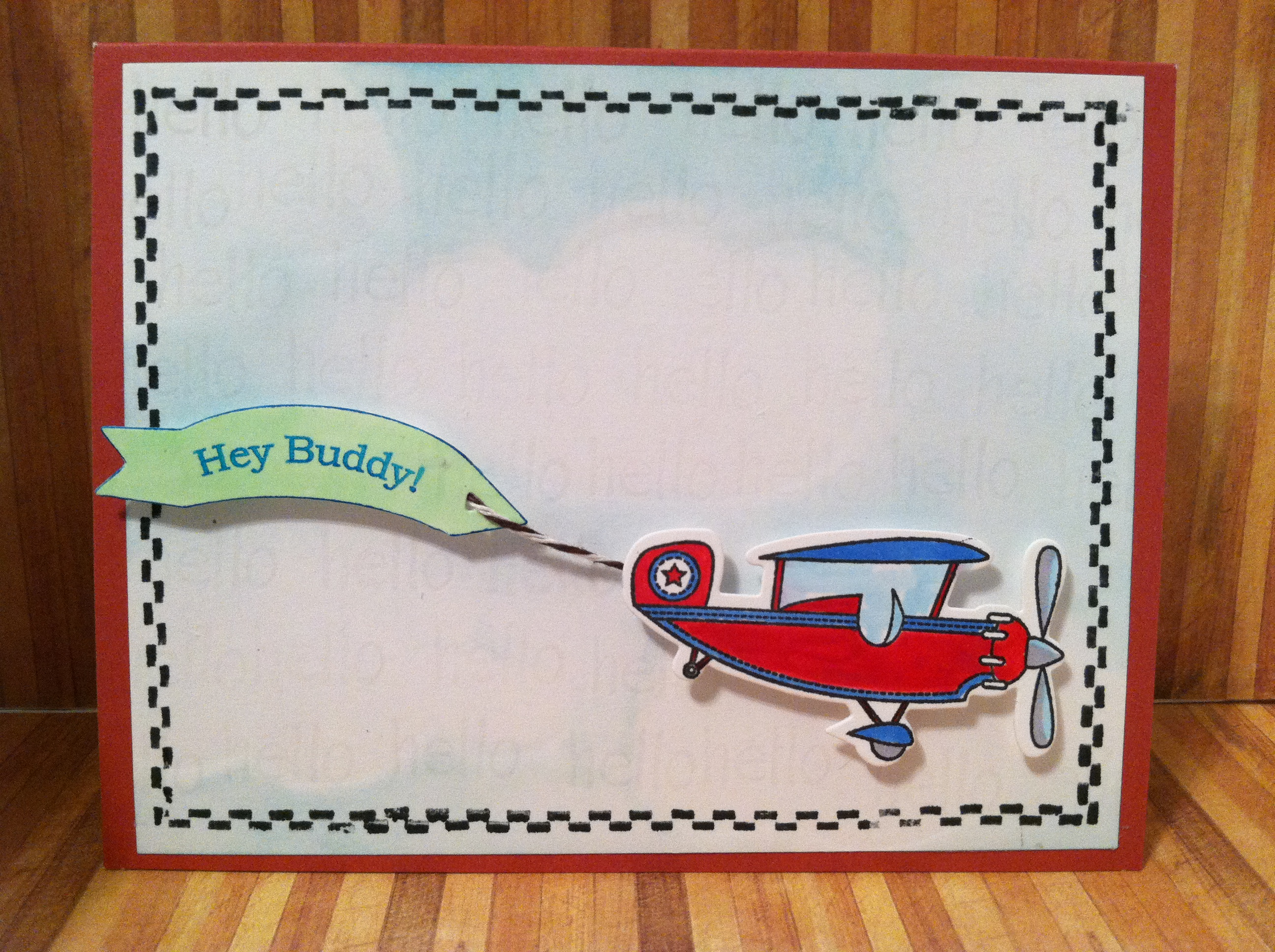 airplane card cardsbymo