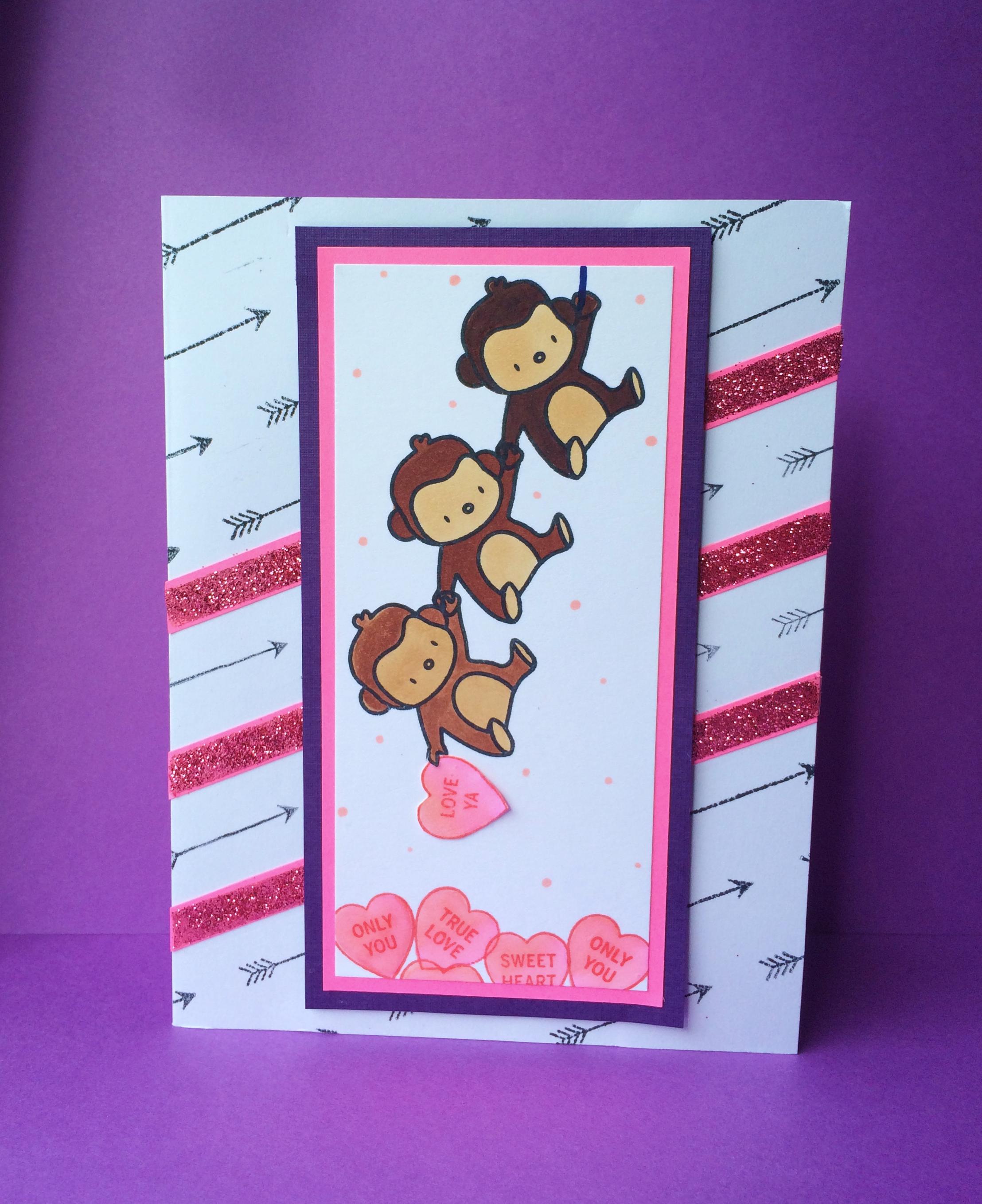 hand stamped Valentine – Nephew Valentine Cards