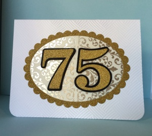 75 birthday card