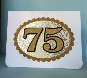 75 birthday card