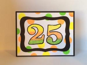 25 birthday card