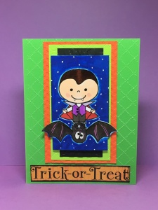 Bobby Rides a Bat, Pink Cat Studio Stamps, Halloween digital stamps