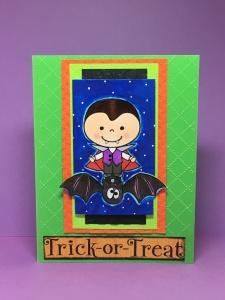 Bobby Rides a Bat, Pink Cat Studio Stamps, Halloween digital stamps