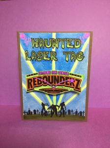 Zombie card, Halloween birthday invitation, rebounderz invitation,
