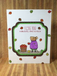 Harvest mouse stamp set, MFT harvest mouse, thanksgiving card ideas