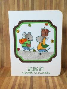 MFT harvest mouse, bb harvest mouse, fall card idea, autumn stamp set