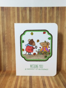 Autumn card ideas, autumn stamp sets, fall stamp set, MFT harvest mouse, thanksgiving card ideas