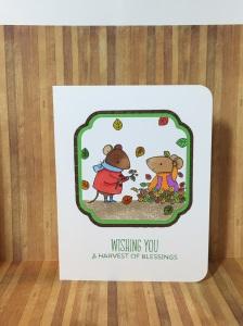 Autumn card ideas, autumn stamp sets, fall stamp set, MFT harvest mouse, thanksgiving card ideas